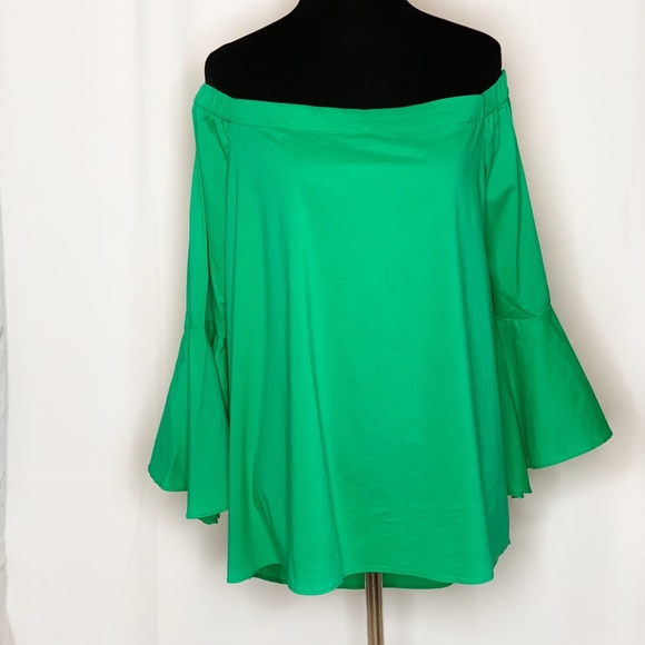 Gibson Latimer Tops - Gibson Latimer Off The Shoulder Bell Sleeves Top